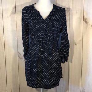 Maternity navy blue polka blouse Size Large